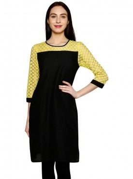Today Fashion Black  Yellow Kurtis