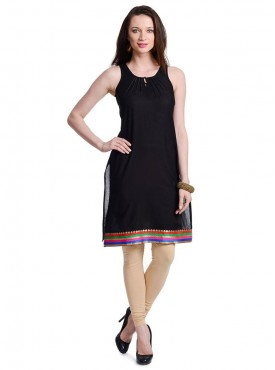 Today Fashion Black Cotton Kurtis