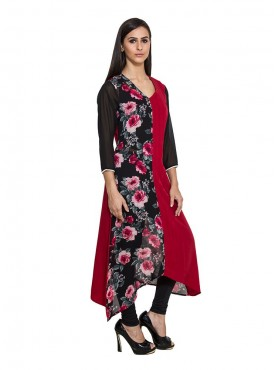 Today Fashion Black  Red Kurta