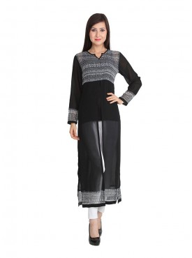 Today Fashion Black Long Kurta