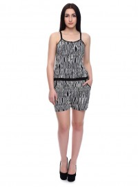 Today Fashion Black Printed Playsuit