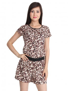 Today Fashion Tiger Print Play Suit