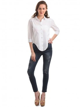 Today Fashion White Solid Shirt