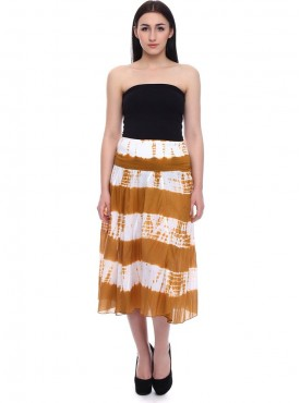 Today Fashion Brown Cotton A-Line Skirt