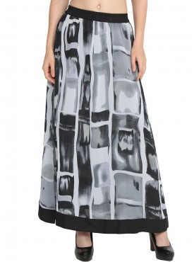 Today Fashion Grey printer Skirt