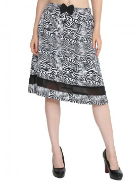 Today Fashion Black Printed Skirt