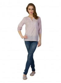 Today Fashion Pink Cotton Tops