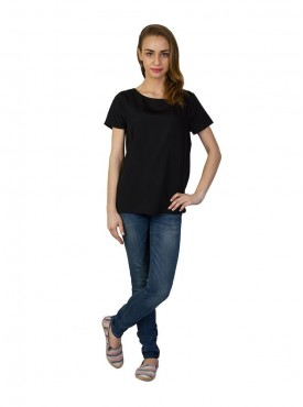 Today Fashion Solid Black Top