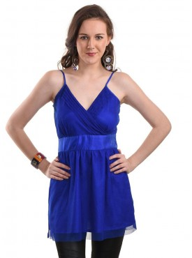 Today Fashion Blue Solid Top