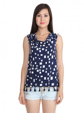 Today Fashion Blue Laced Top