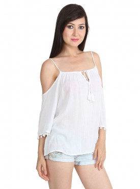 Today Fashion White Stylish Top