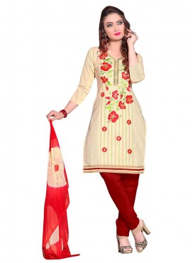 Aasvaa Marvellous Embroidered Women Girl Semi Leon Salwar Suit