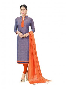Aasvaa Marvellous Embellished Women Girl Semi Cotton Salwar Suit