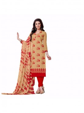 Aasvaa Superb Embroidered Women  Girl Cotton Salwar Suit