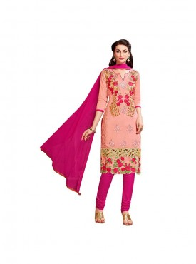 Aasvaa Worthy Embroidered Women  Girl Cotton Salwar Suit