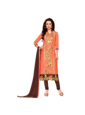 Aasvaa Dazzling Embroidered Women  Girl Cotton Salwar Suit