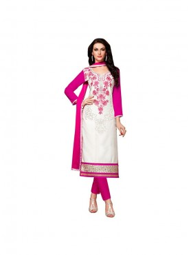 Aasvaa Excellent Embroidered Women  Girl Cotton Salwar Suit