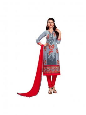 Aasvaa Glorious Embroidered Women  Girl Cotton Salwar Suit