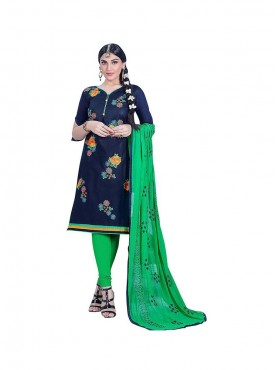 Aasvaa Outstanding Embroidered Women  Girl Cambric Cotton Dress