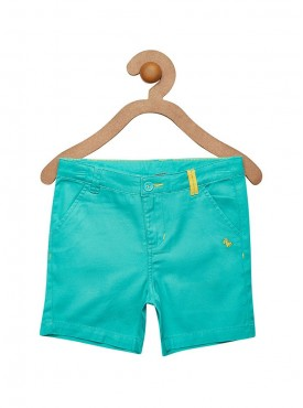 Boys Green Color Short Pant