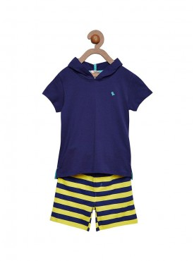 Boys Blue Color Combo Short Pant
