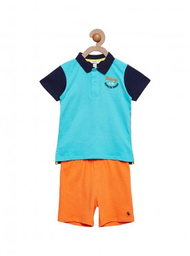 Boys Green Color Combo Short Pant