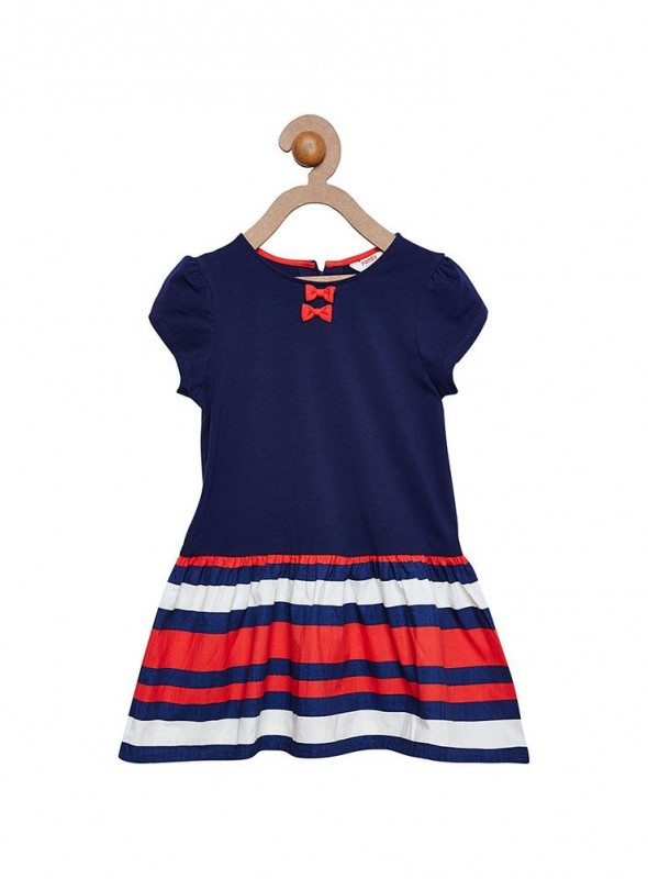 Girls Navy Color Frock