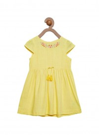 Girls Yellow Color Frock
