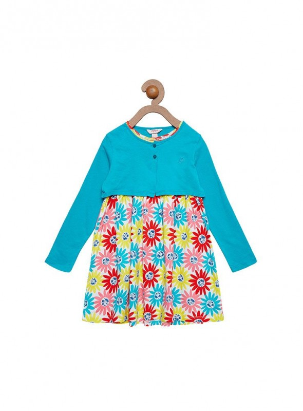 Girls Turquoise Color Frock