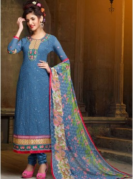 Shelina Chiku Color Embroidery Salwar Kameez