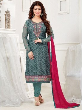 Shelina Blue Color Embroidered Salwar Kameez