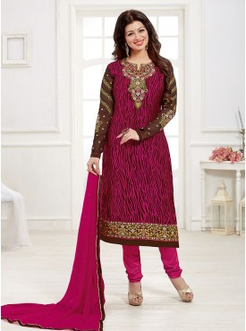 Shelina Pink Color Embroidered Salwar Kameez