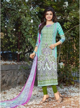 Shelina Blue Color Digital Print Salwar Kameez