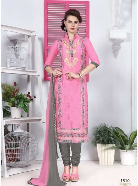 Shelina Pink Color Embroidery Suit