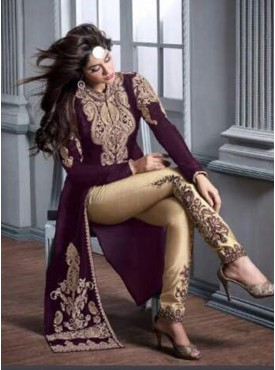 Shelina white Color embroidery suit