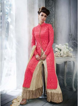 Shelina red Color multy embroidery suit