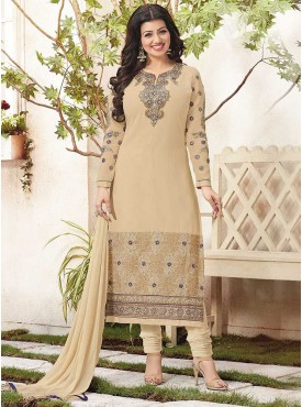 Shelina Cream Color Embroidered Suit