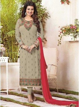 Shelina Beige Color Embroidered Suit