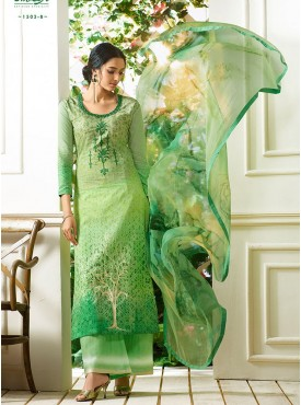 Shelina Green Color Light Embroidery Salwar Kameez