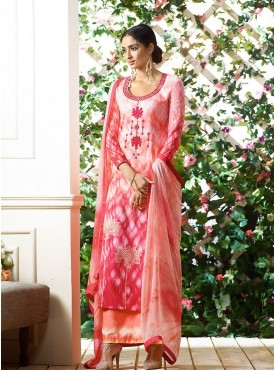 Shelina Cream and Pink Color Light Embroidery Salwar Kameez