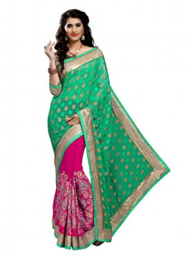 Aasvaa Appealing Women Embroidered Jacquard Saree