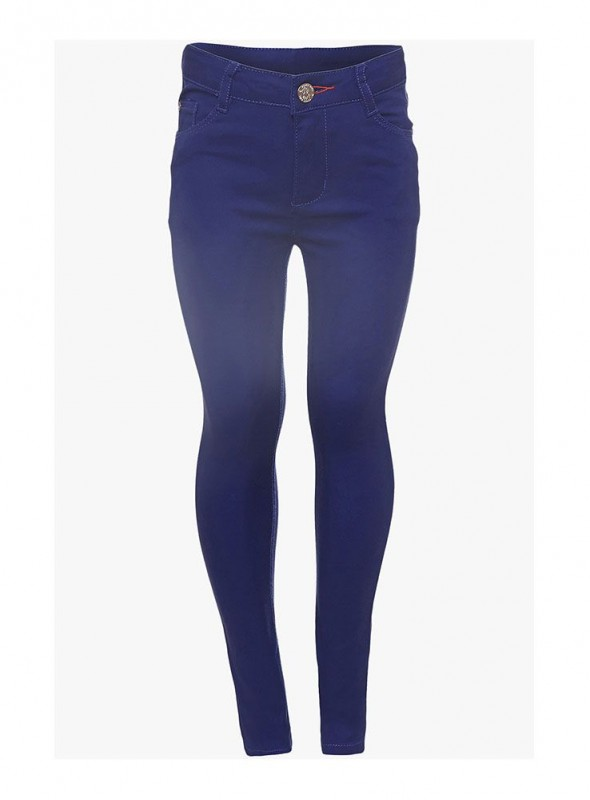 Girls Navy Color Perfect Jeans