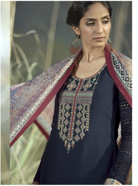 Shelina Woman Black Lawn Cotton Party Wear Salwar Suit