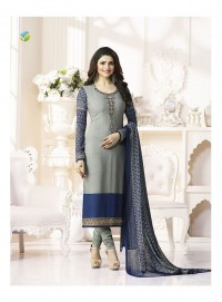 Shelina Woman Grey French Creap Party Wear Salwar Suit