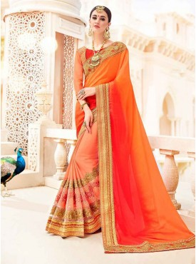 Shelina Red & Beige Color Party Wear saree