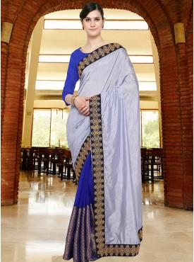 Shelina Off White Color Party Wear saree