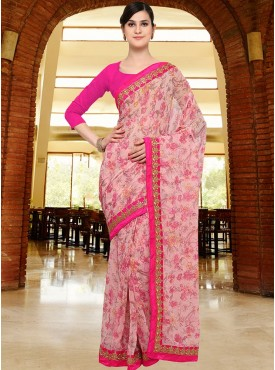 Shelina Pink Color Party Wear saree