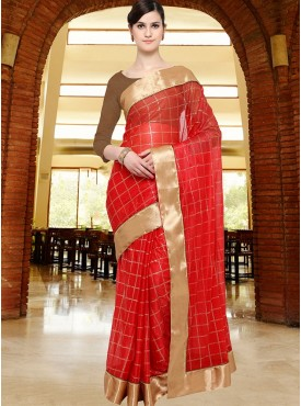 Shelina Red Color Party Wear saree