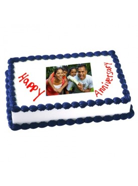 2kg Anniversary Photo Cake Eggless