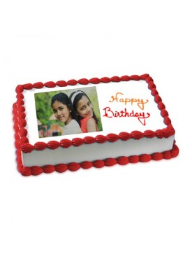 Happy Birthday Photo Cake Eggless 2kg